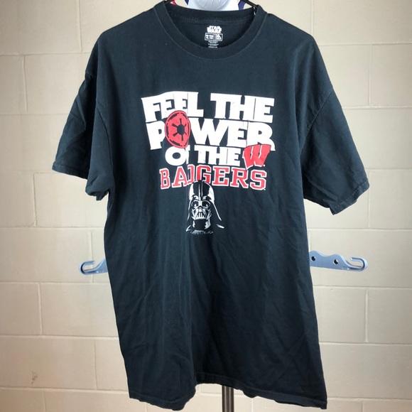 Star Wars Shirt Darth Vader Badgers WI